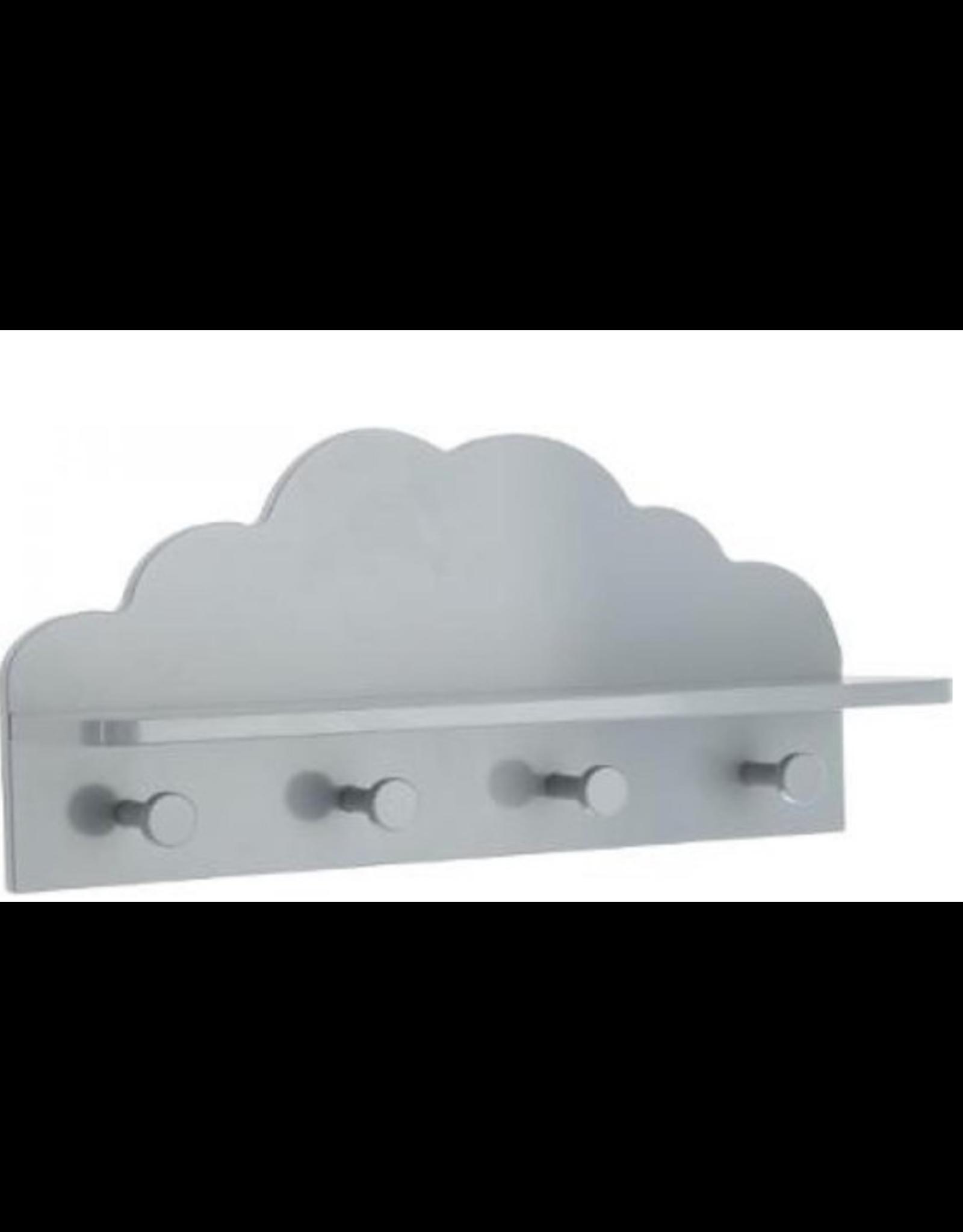 Atmosphera Kapstokje kinderen wolk vorm kleur grijs schattig kinder of babykamer