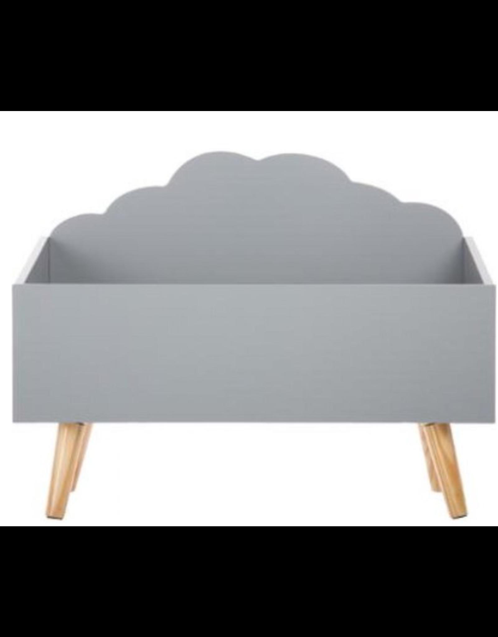 Atmosphera Speelgoedkist - wolkenvorm - kleur grijs- ACTIVE ANTS