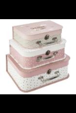 Roze koffer Set Kinderkoffer