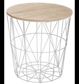Atmosphera Side table Kumi - Grey coffee table and storage - Metal - Wire basket