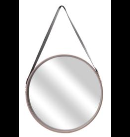Home Deco - Round mirror with beige frame