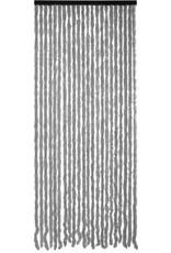 Parya Home Parya Home - Kattenstaart Vliegengordijn - 90 x 220 cm - Grijs/Wit Gemeleerd - Hor Gordijn