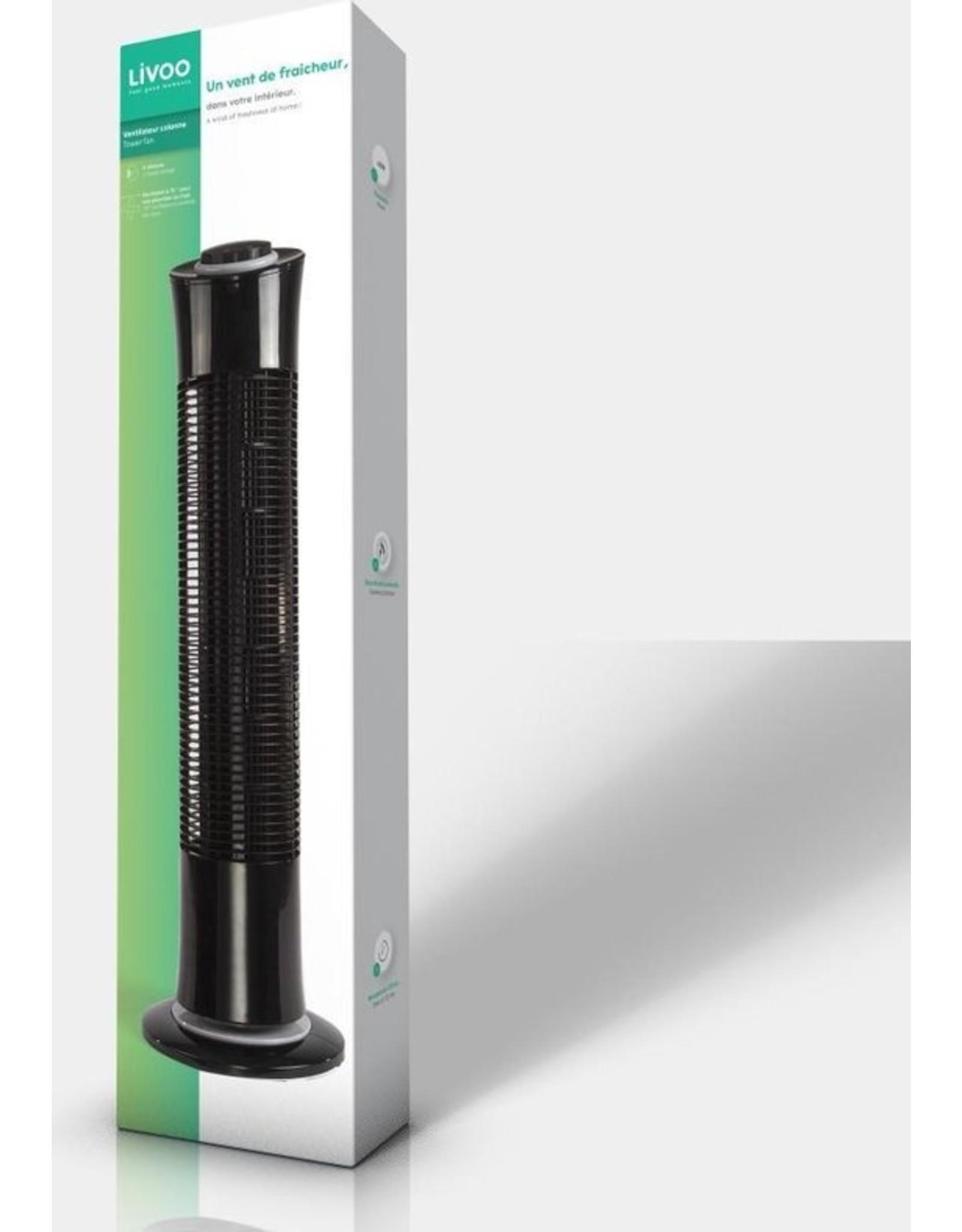 Livoo - Tower Fan - Ventilator - Zwart