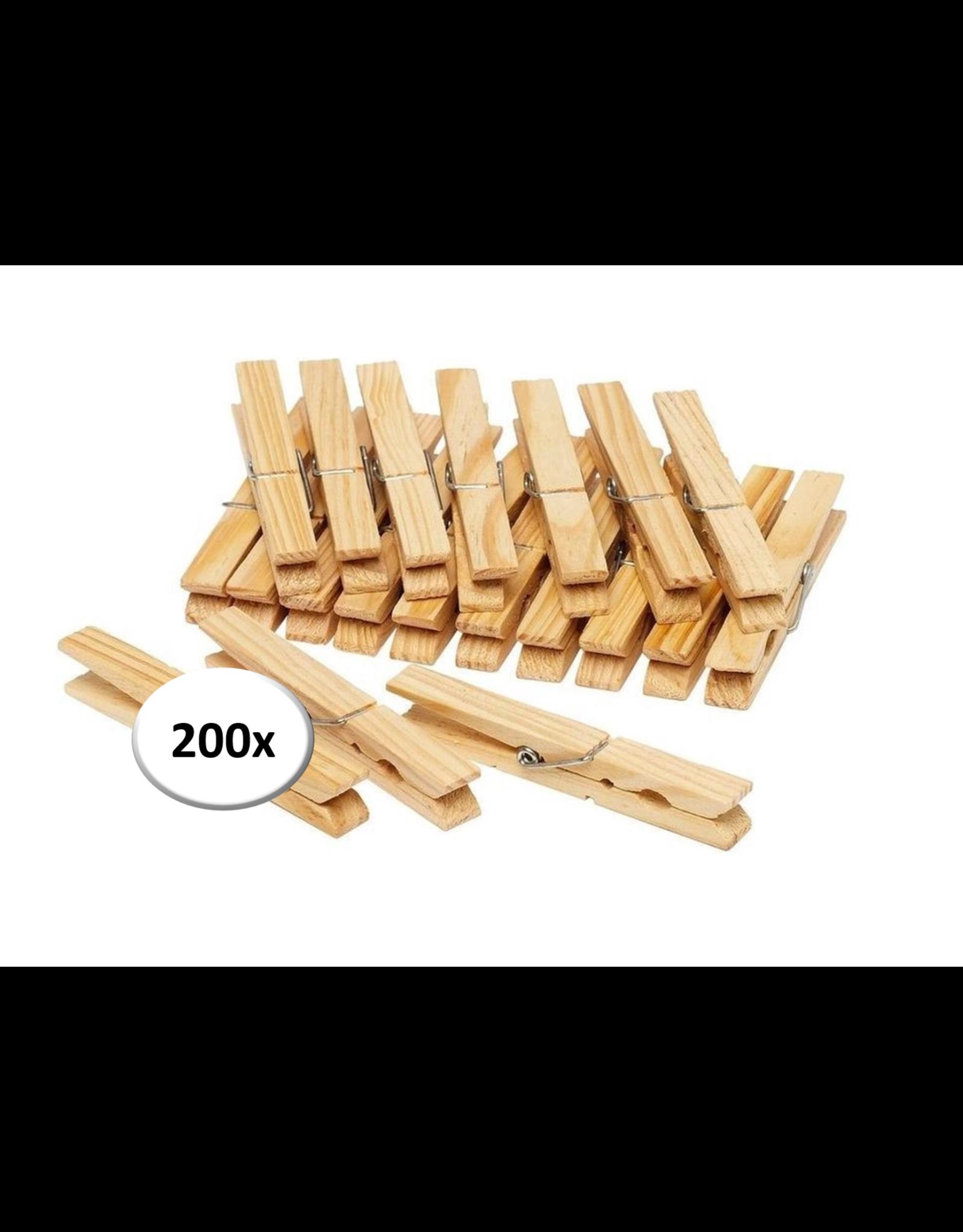 Wasknijpers - 200 stuks - Hout