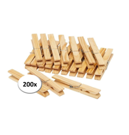 Clothes pegs - 200 pieces - Wood