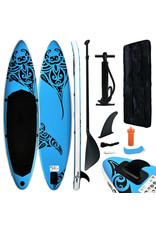 Stand Up Paddleboardset opblaasbaar 366x76x15 cm blauw