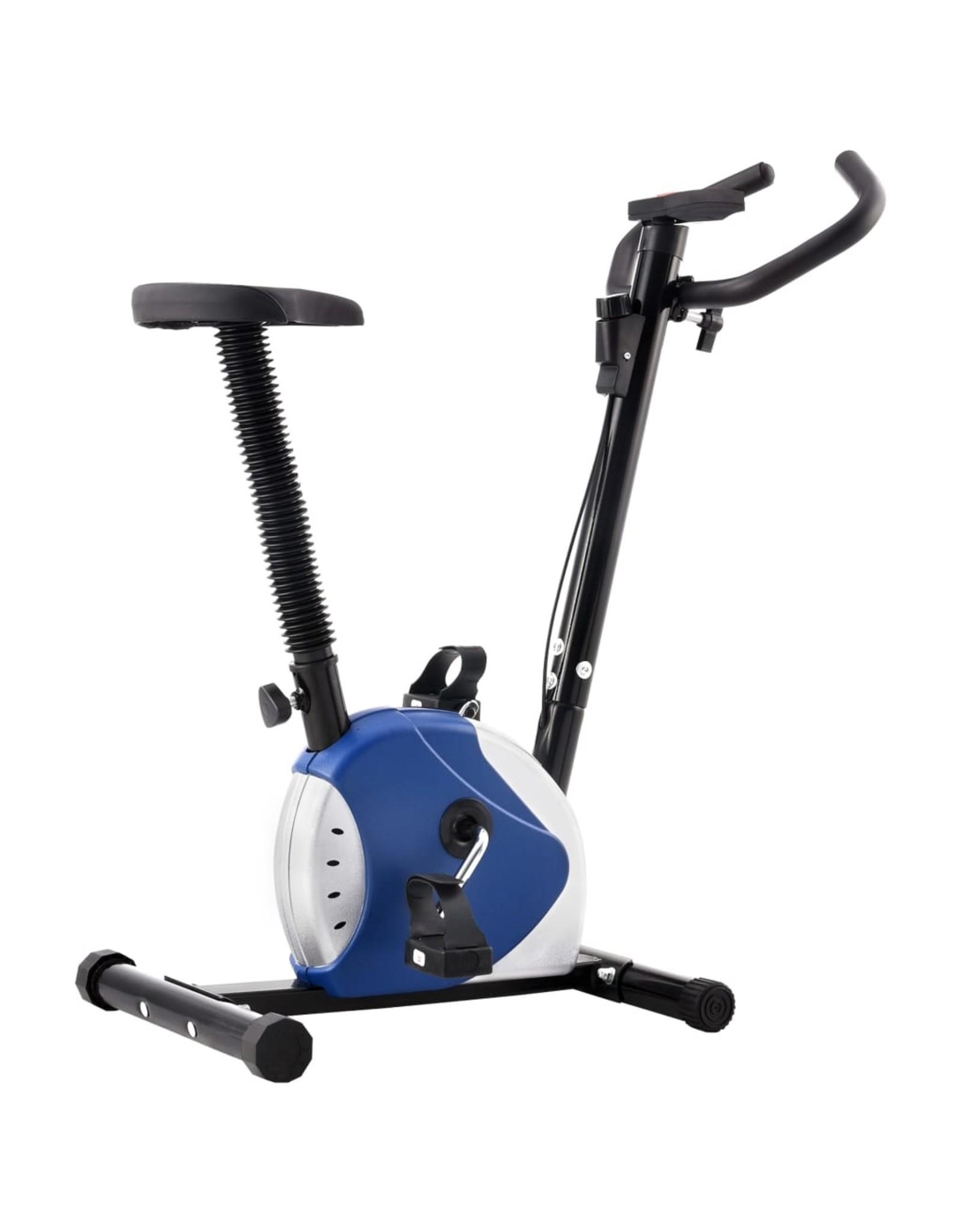 Hometrainer met bandweerstand blauw