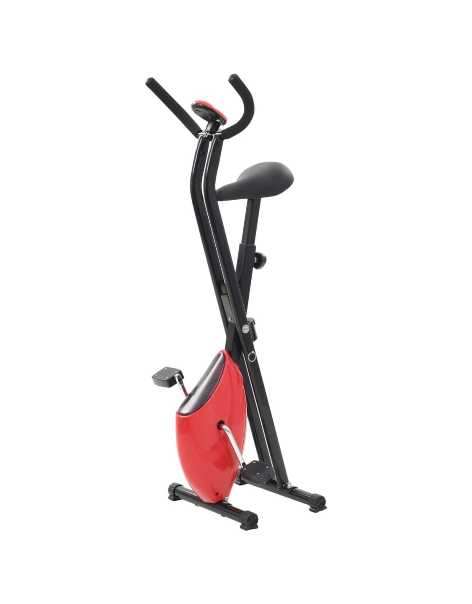 Hometrainer X-bike bandweerstand rood