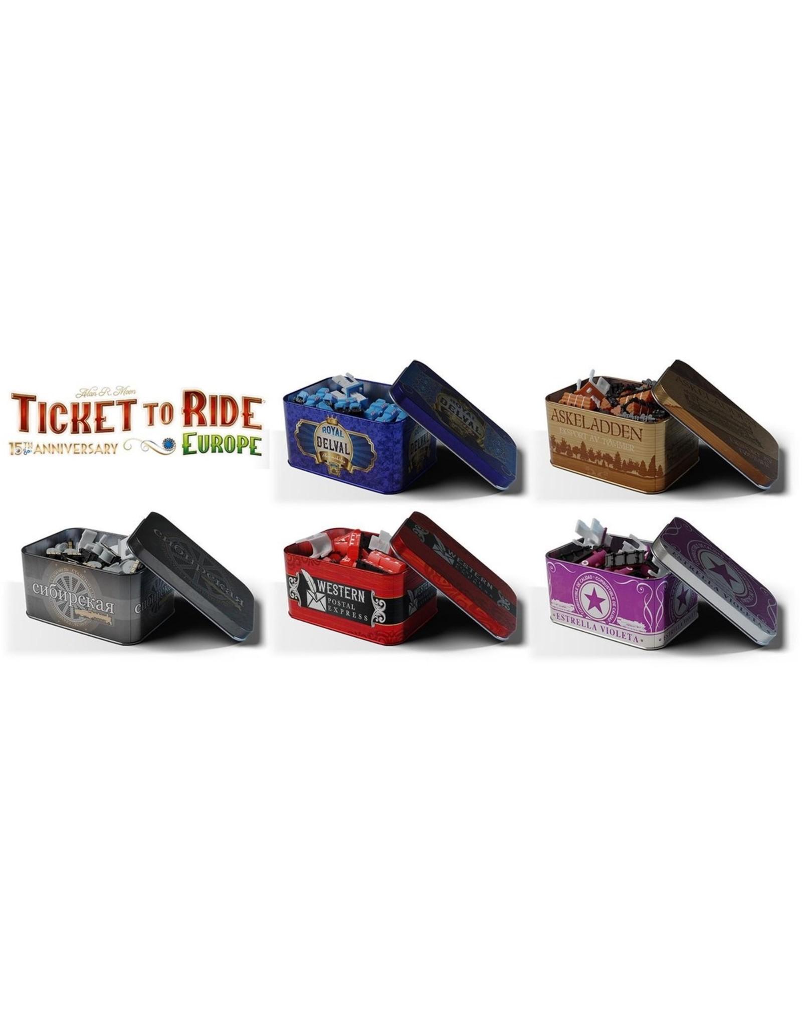 Ticket to Ride  - Europe - 15th Anniversary - Bordspel - Engelstalig