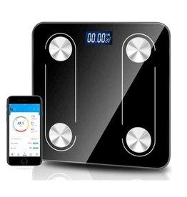 Parya Official Parya Official - Digital Bathroom Scales - Bluetooth - Full Body Analysis - Black