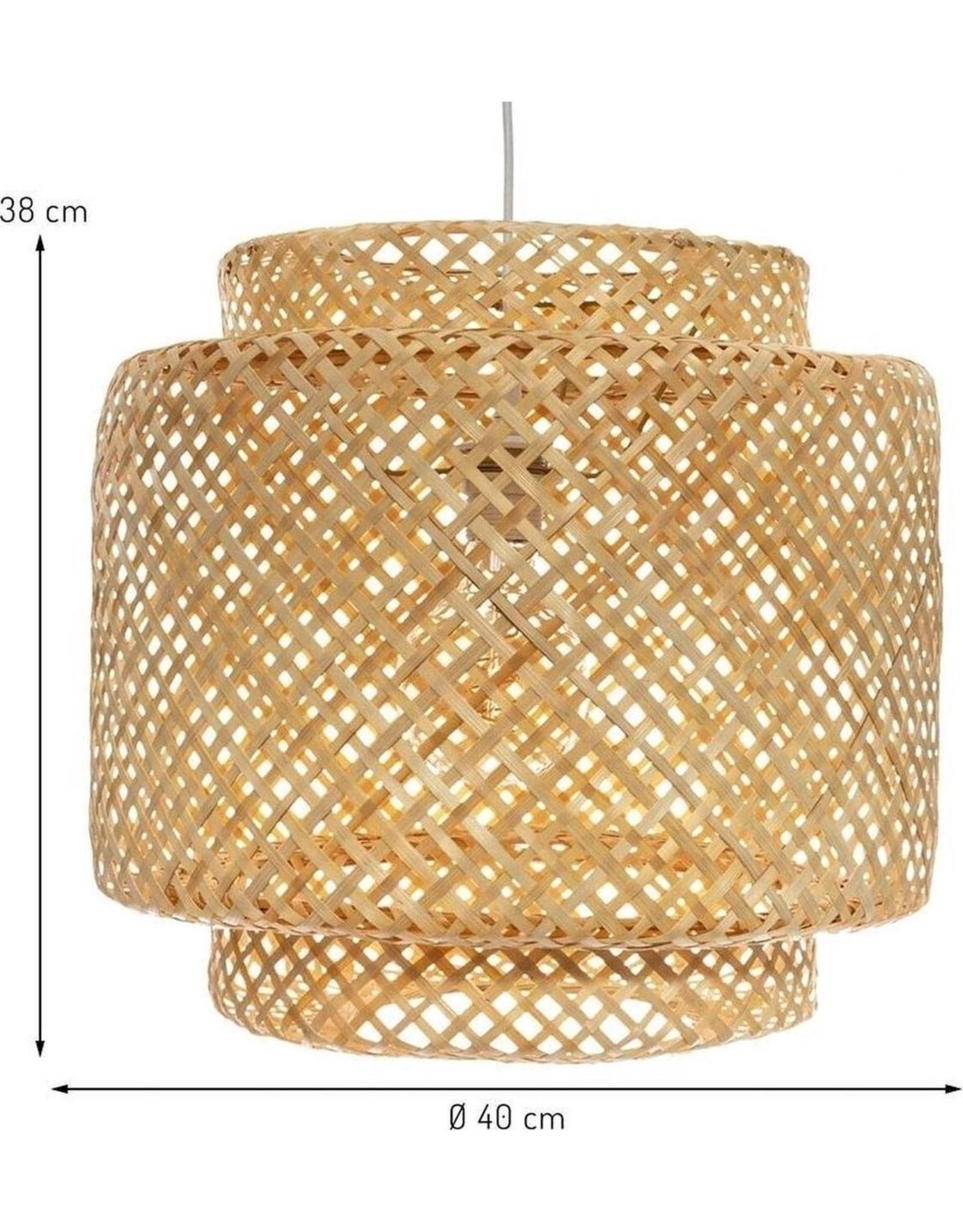 Atmosphera Parya Home - Gevlochten Hanglamp - Diameter Ø40 cm - Bamboe