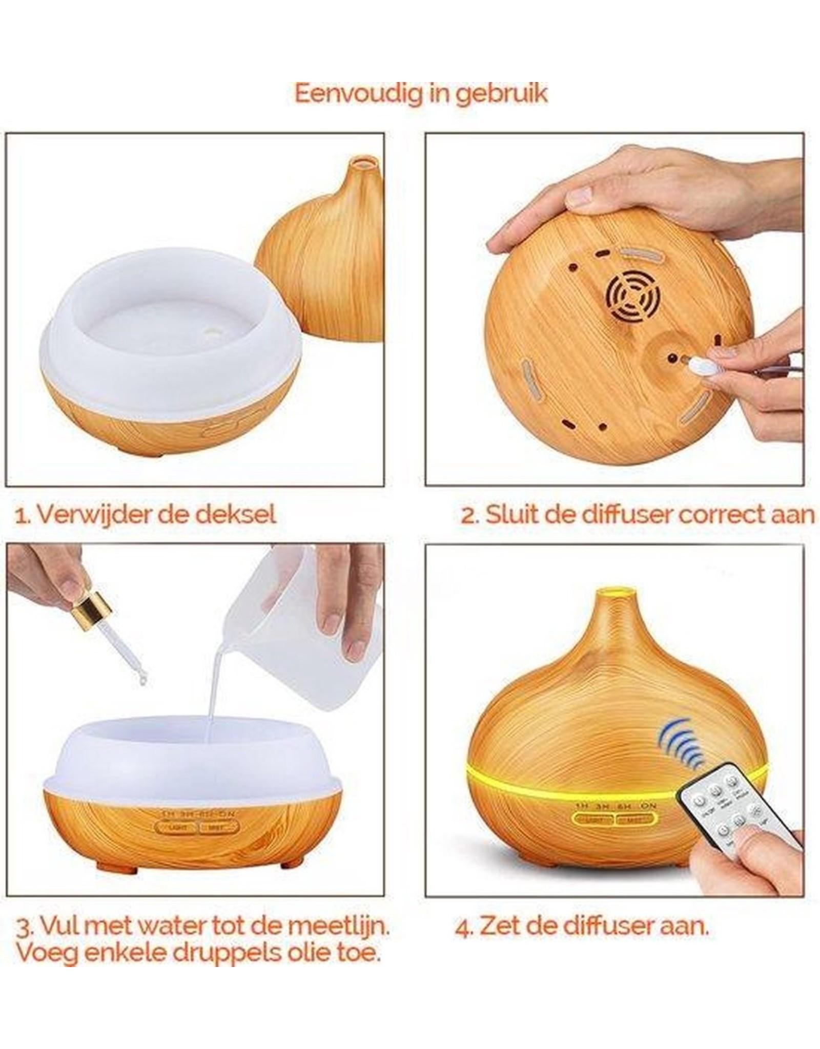Parya Home Parya Home - Luxe Aroma Diffuser 400ML - Inclusief afstandsbediening