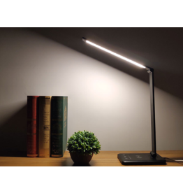 Parya Official Parya Official - LED Desk Lamp - Wireless Charging For Smartphone - Black