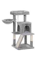 Parya Pets Parya Pets - Kattenboom - Krabpaal - Inclusief Uitkijkplatform - 96 cm - Grijs