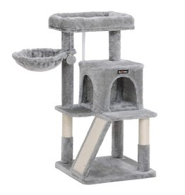 Parya Pets Parya Pets - Cat tree - Scratching post - Includes viewing platform - 96 cm - Grey