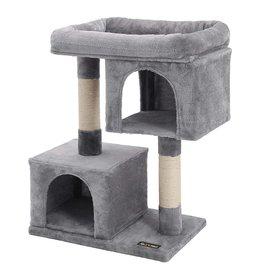 Parya Pets Parya Pets - Cat tree - scratching post - 2 plush condos - Grey