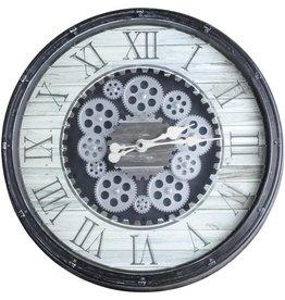 Parya Home Parya Home - Grote wandklok -  Diameter Ø 48cm - Roterend uurwerk - Zwart