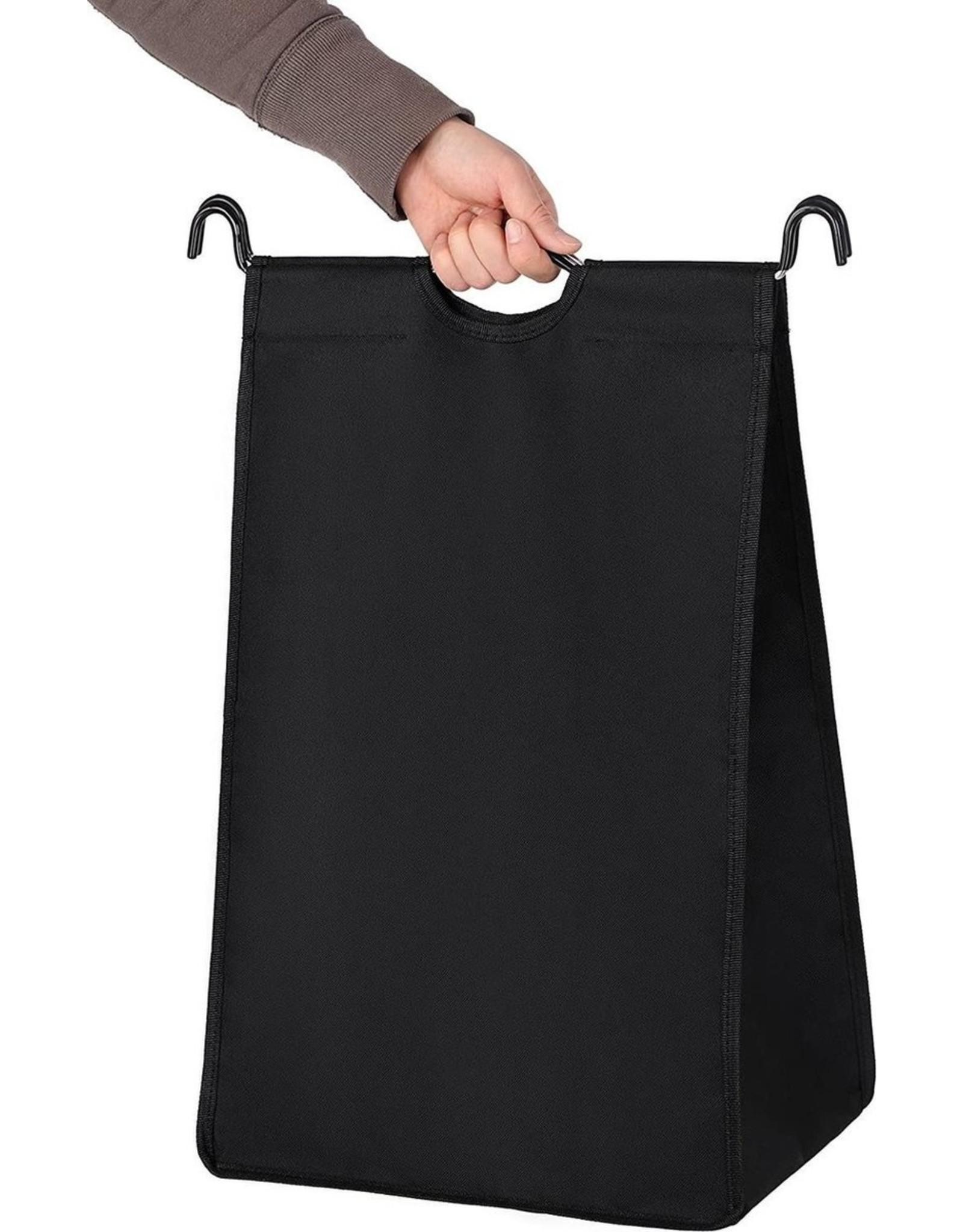 Parya Home Parya Home - Verrijdbare Wasmand - Inclusief 3 afneembare stoffen zakken - Zwart
