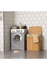 Parya Home Parya Home - Grote Wasmand - 100 Liter - 2 compartimenten - Inclusief deksel & verwijderbare waszak