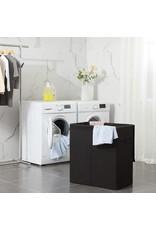 Parya Home Parya Home - Stoffen Wasmand - Magnetische Deksel - Handgrepen - Verwijderbare voeringzak - Zwart