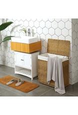 Parya Home Parya Home - Gevlochten Wasmand - Wassorteerder - Inclusief Deksel & Handgrepen - Bruin