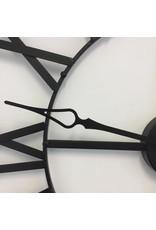 Atmosphera Atmosphera - Metalen wandklok zwart - 70cm - Romeinse cijfers