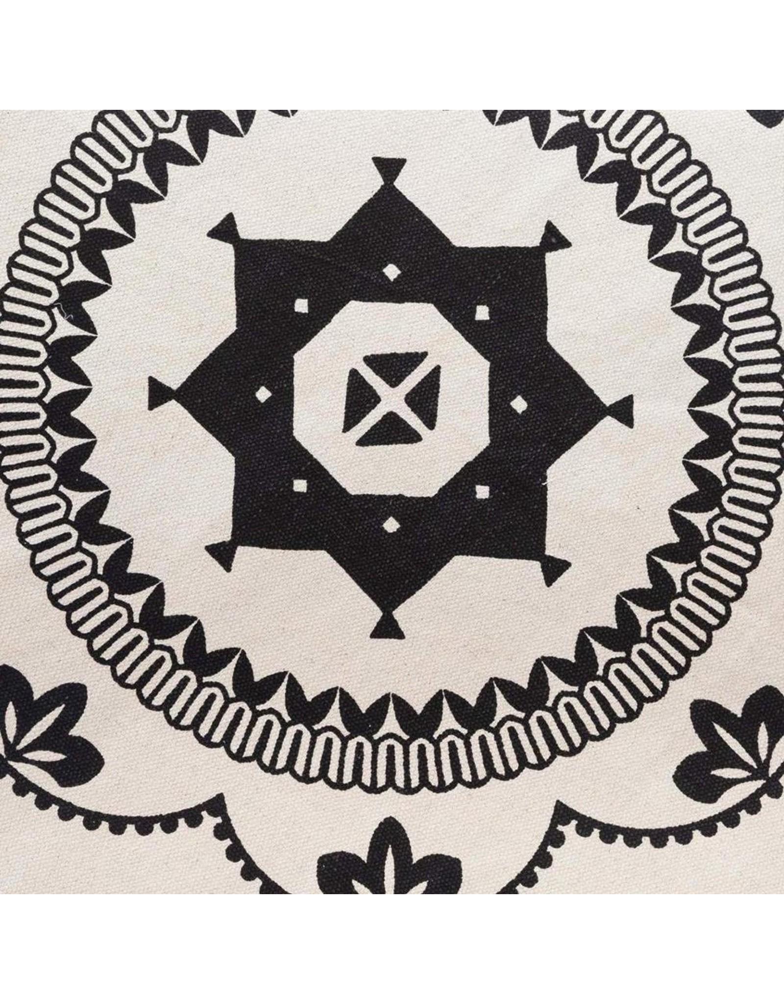 Tapijt Rond - zwart/wit - Grafische Patronen - Ø120CM