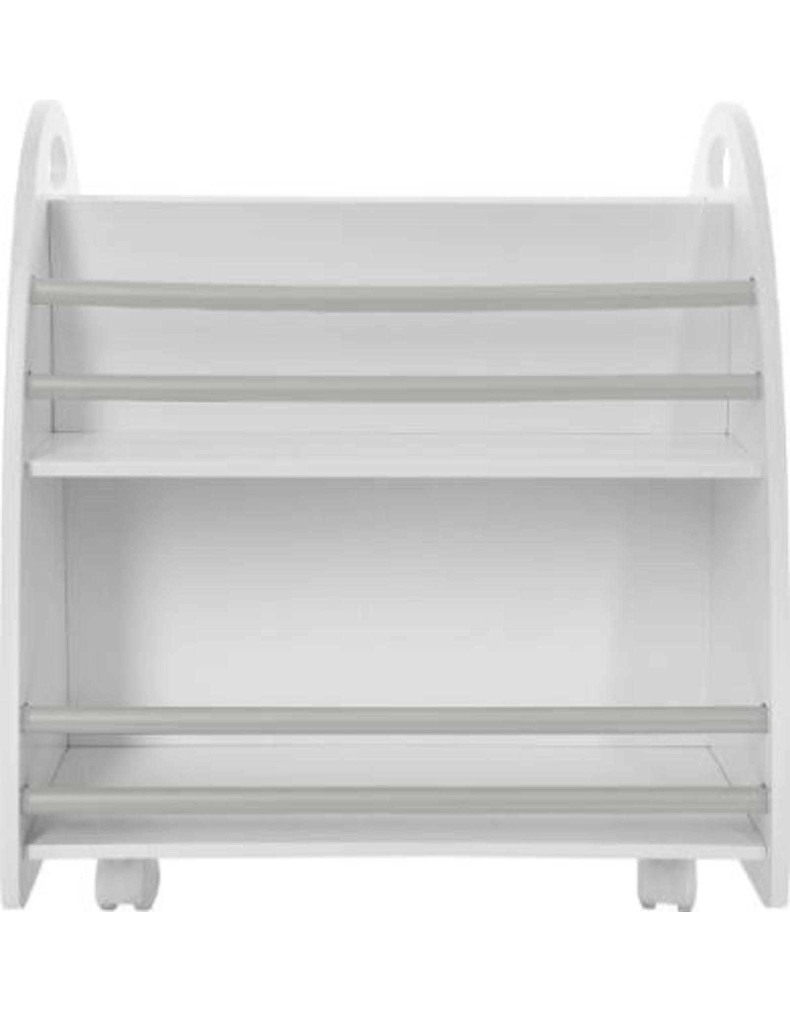 Atmosphera Atmosphera - Lage boekenkast voor kinderkamer - op wielen - wit/grijs