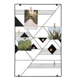 Atmosphera Atmosphera - Wall holder 35x55 for photos - Wall mounting - Metal - Black