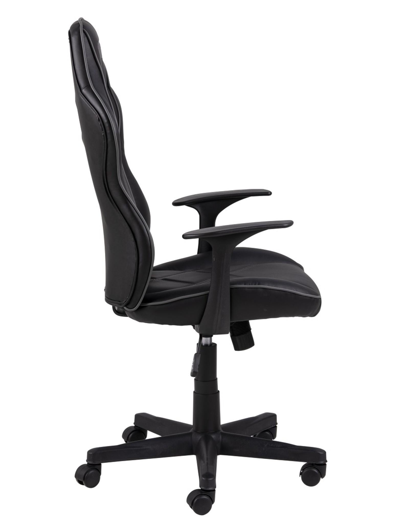 Parya Home Parya Home - Premium Gaming Stoel - Bureaustoel - Verstelbare Hoogte - Leer - Zwart & Grijs