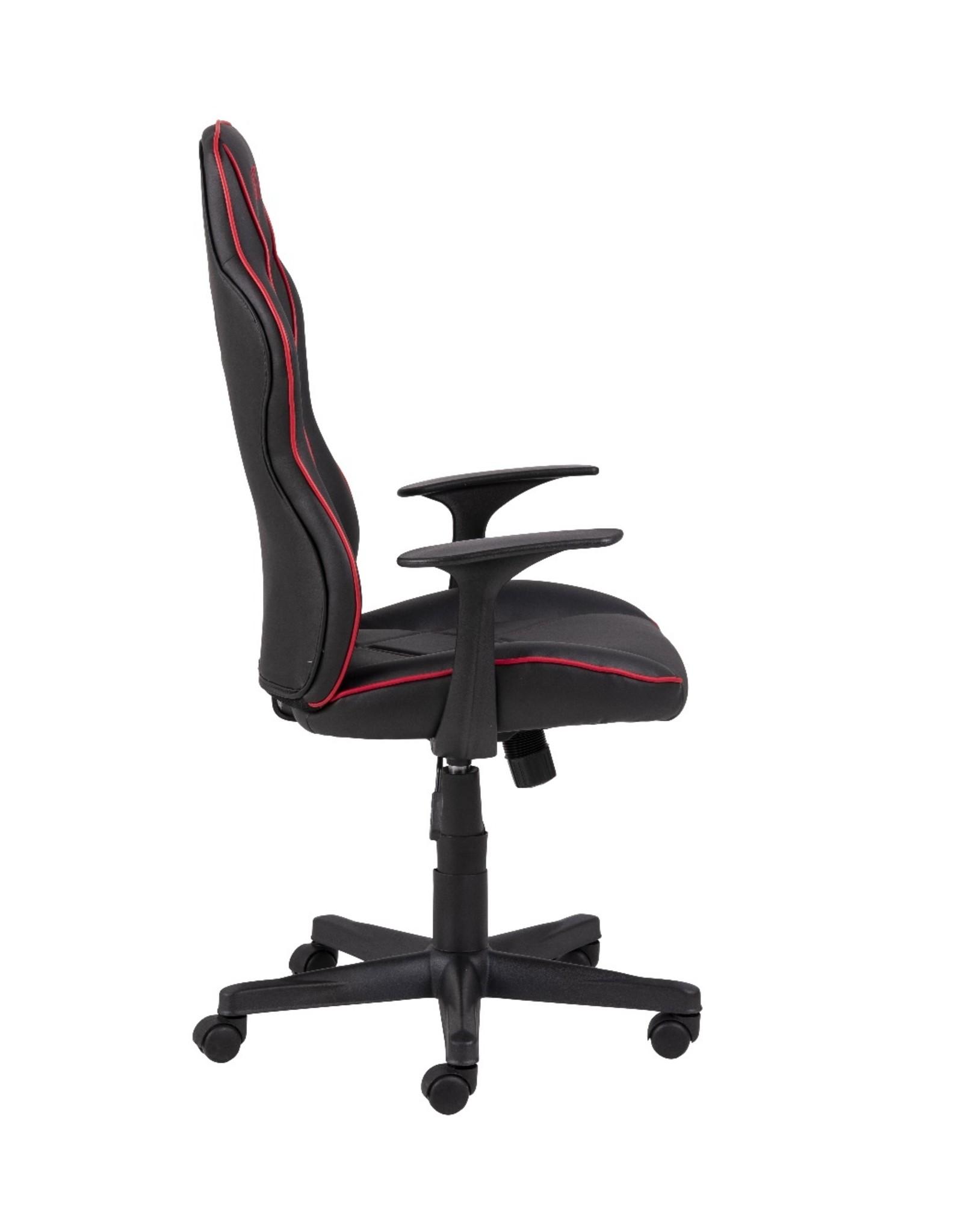 Parya Home Parya Home - Premium Gaming Stoel - Bureaustoel - Verstelbare Hoogte - Leer - Zwart & Rood