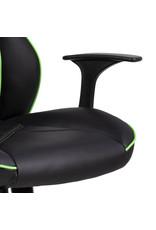 Parya Home Parya Home - Premium Gaming Stoel - Bureaustoel - Verstelbare Hoogte - Leer - Zwart & Groen