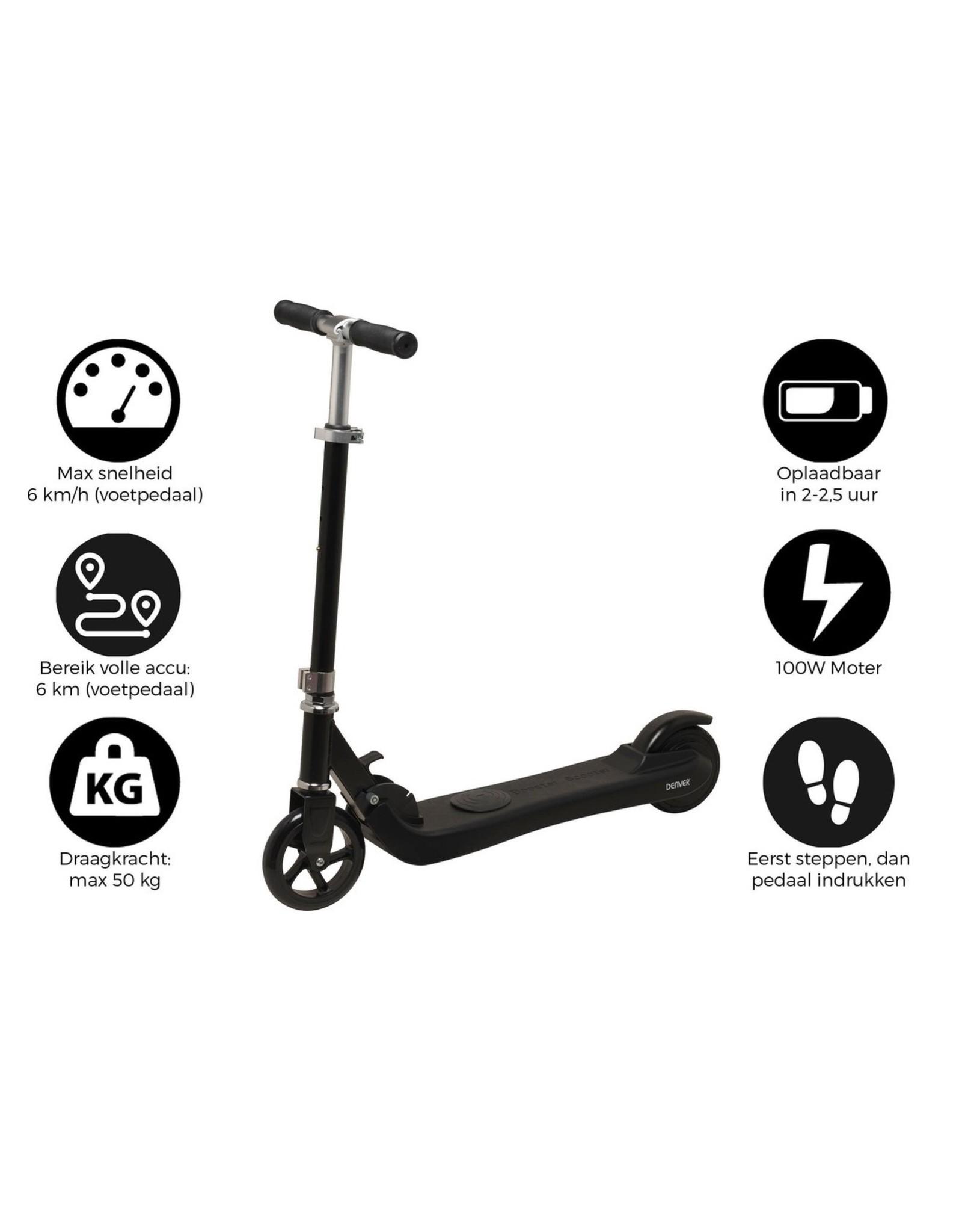 Denver - SCK-5300BLACK - Elektrische Scooter - Kinder Step - 6 km/u - Zwart