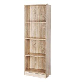 Parya Home Parya Home - Wooden Bookcase - 4 Shelves - Adjustable Shelves - Brown