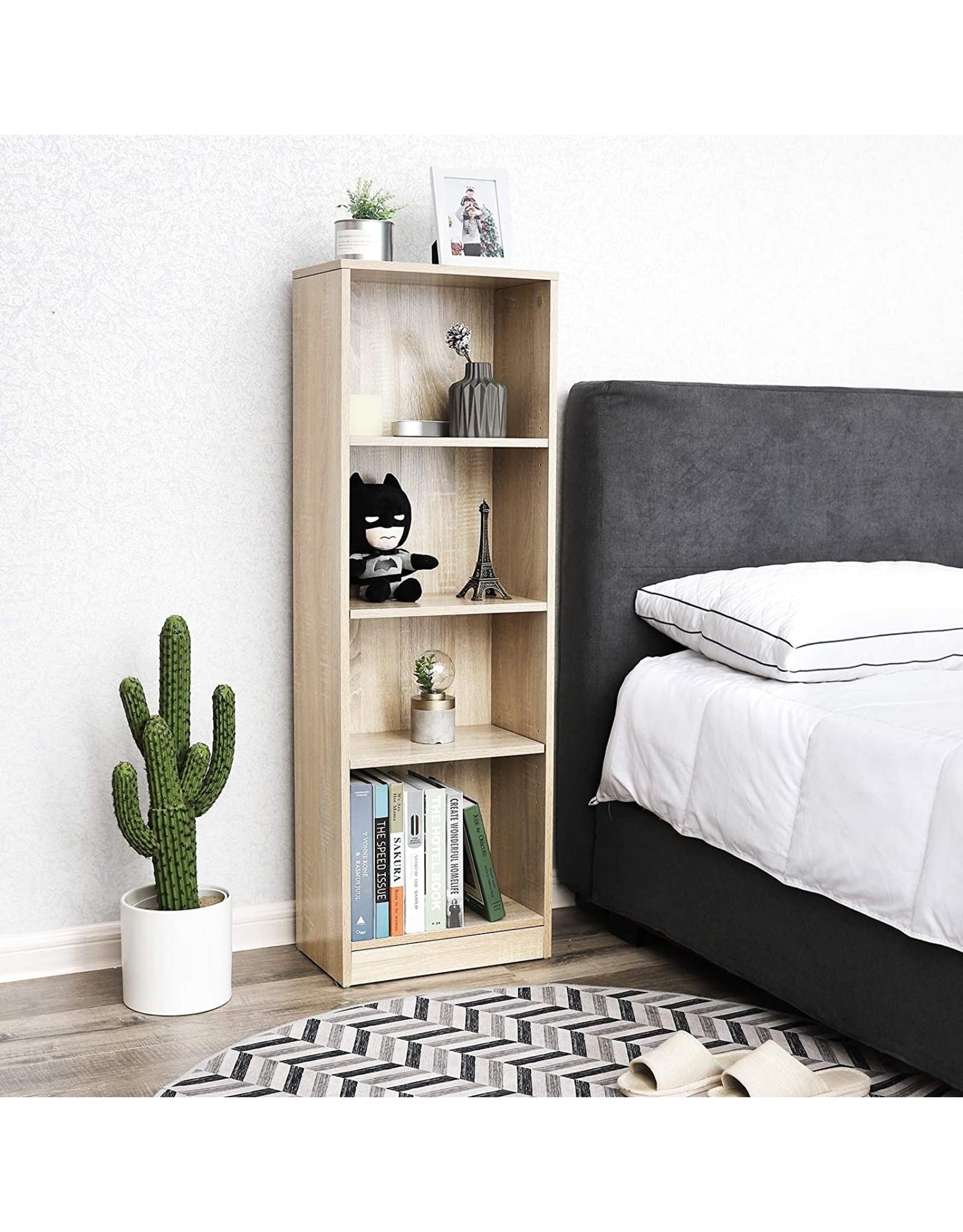 Parya Home Parya Home - Houten Boekenkast - 4 Planken - Verstelbare Planken - Bruin