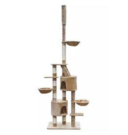 Kattenkrabpaal Cuddles XL 230-260 cm pluche beige