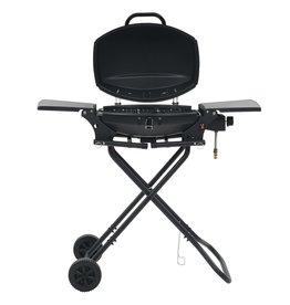 Gasbarbecue met kookzone draagbaar zwart