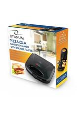 Esperanza Titanum Tosti IJzer Pizzaiola - met rechthoekig platen - 700W