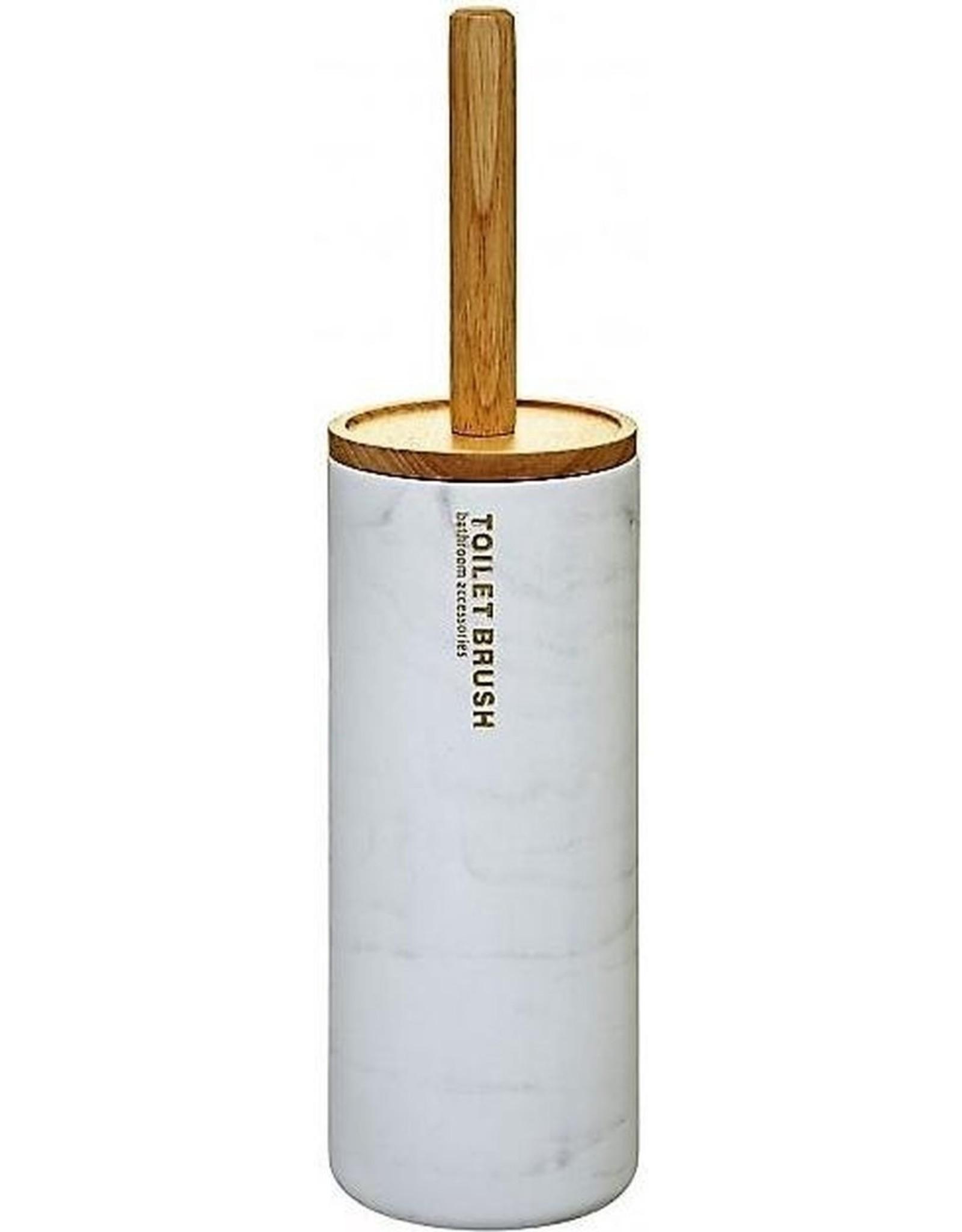 5Five - Witte toiletborstel - bamboe en polyresin