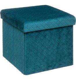 5 FIVE - 2-in-1 - Opbergbox - Zitbox - Fluweel - 31 cm