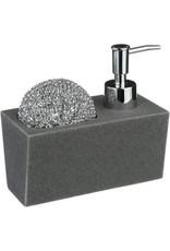 5Five -  Design Zeepdispenser - Ingebouwde houder - Steengrijs