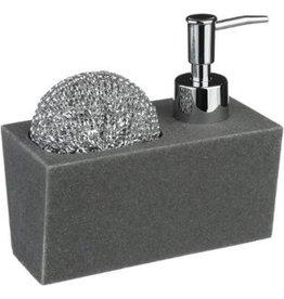 5Five - Design soap dispenser - built-in holder - stone grey