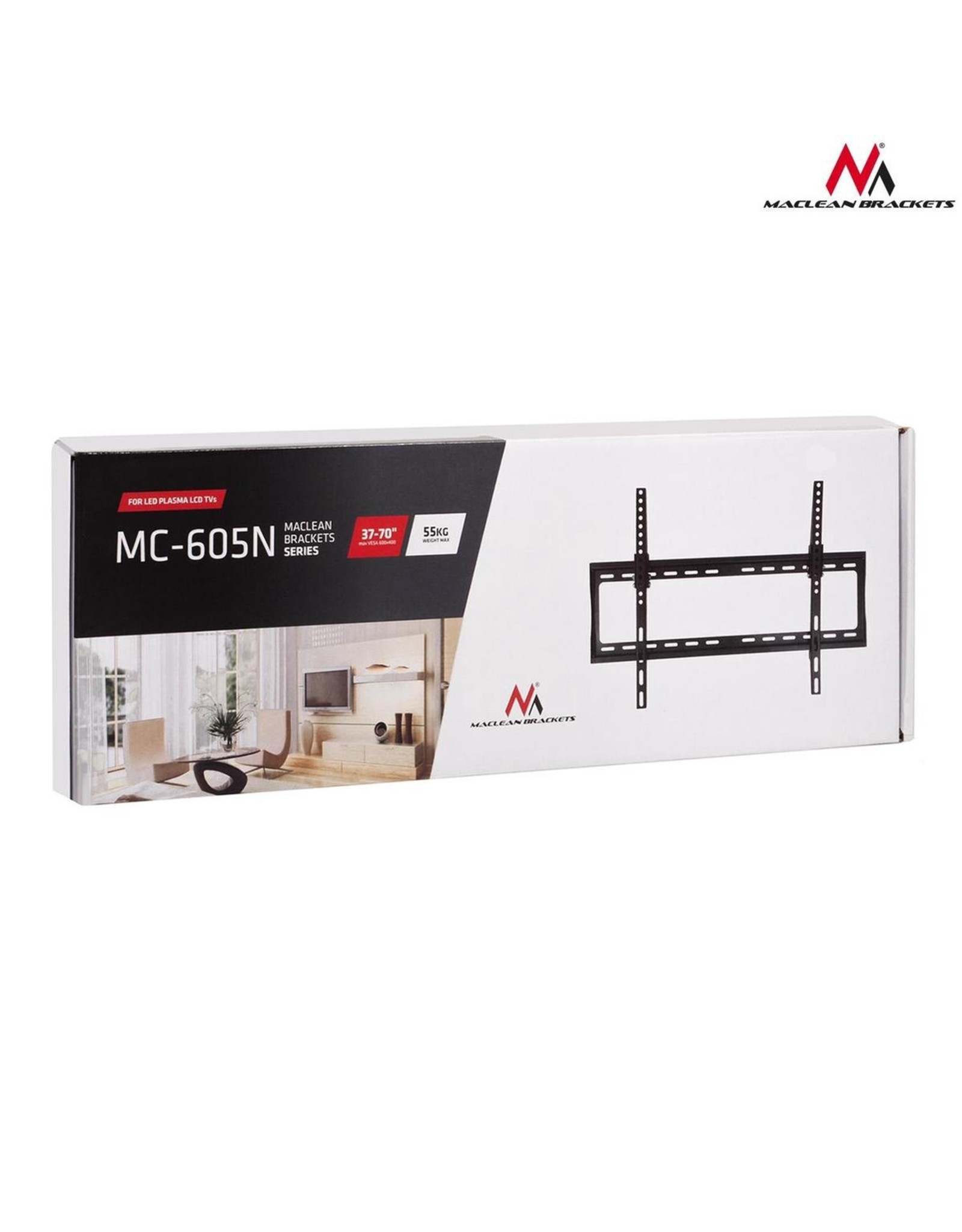 Maclean Brackets Maclean - TV Wandsteun / muurbeugel -  37-65 inch tot 55 kg
