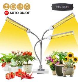 Groeilamp - ledverlichting - Grow light - kweeklamp - warmtelamp - Full spectrum - Met 3 lampen - Flexibel