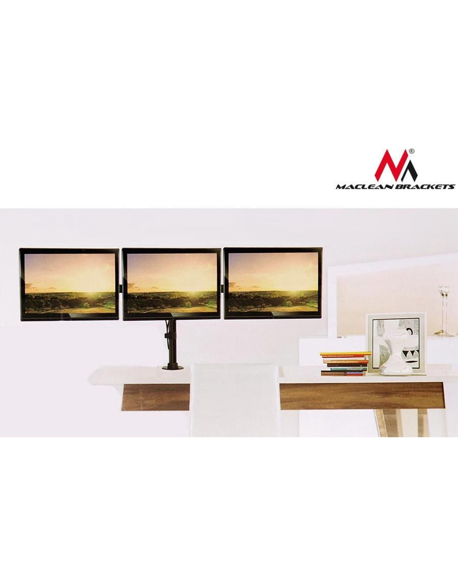 Maclean Maclean  MC-691 - Drievoudige monitor bureaubeugel