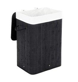 Parya Home Bamboo Storage Basket / Laundry Basket - 72L - Black