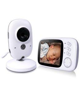 Parya Official Parya Official - Babyfoon - met camera - Kleurenmonitor - 3.2 Inch Beeld - Wit