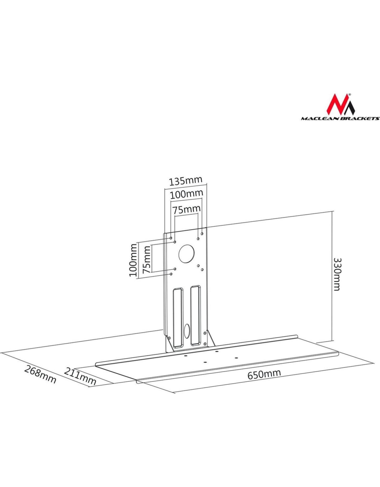 Maclean Brackets Maclean MC-756 - Toetsenbordhouder - VESA Standard: 75x75, 100x100