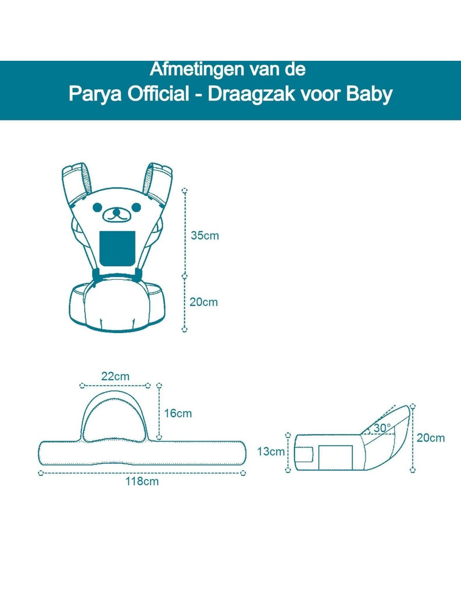 Parya Official Parya Official - Babydraagzak - Big - max. 20 kg