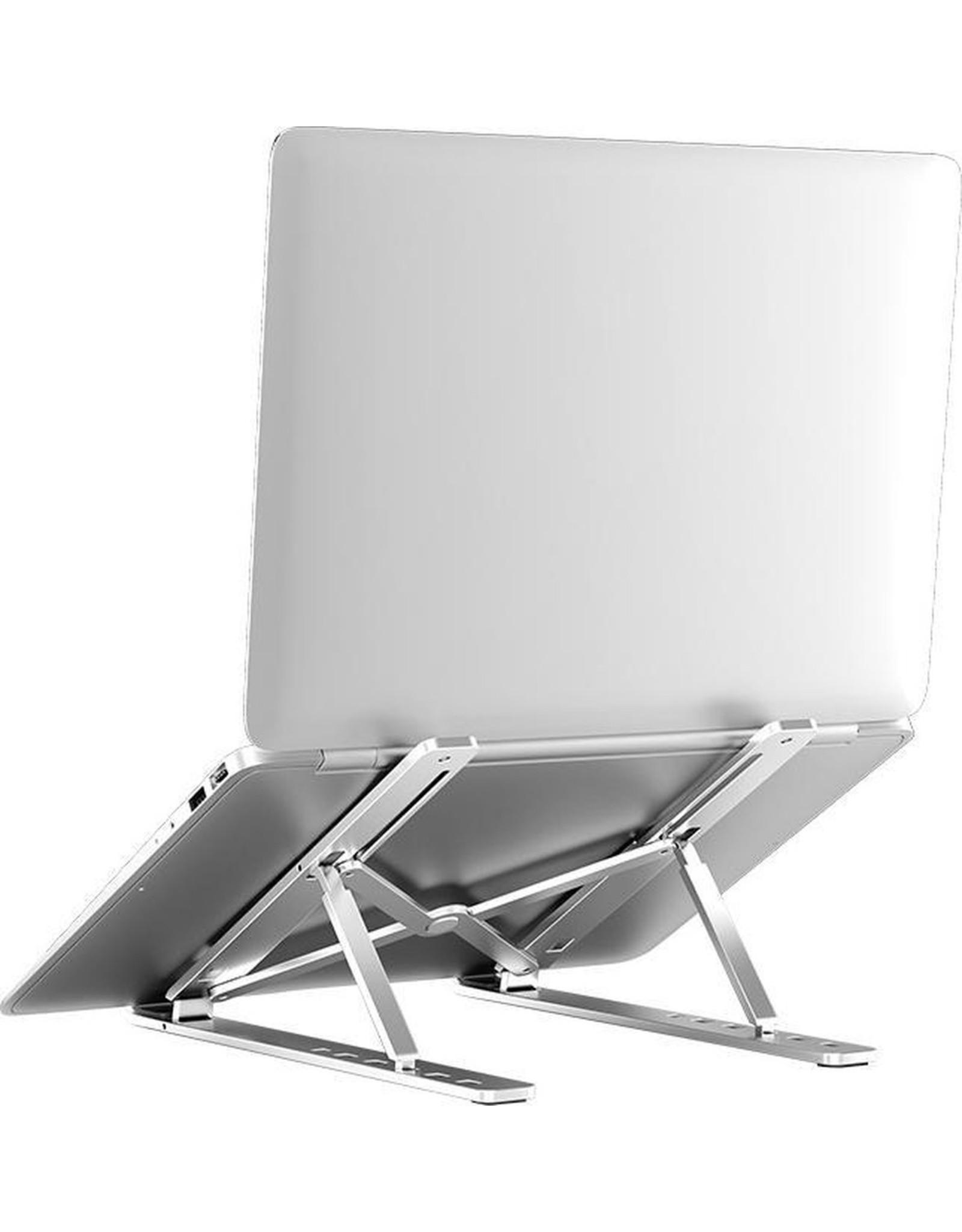 Parya Official Parya Official - Laptop Standaard - Metaal - Verstelbaar & Opvouwbaar - Zilver
